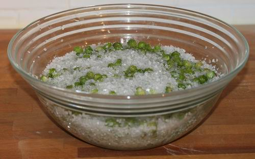 Redimensionnement de capucines au sel